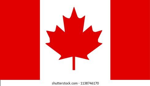 the flag of Canada. raster illustration