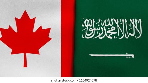 Flag of Canada and Saudi Arabia