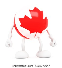Flag of Canada.3d illustration