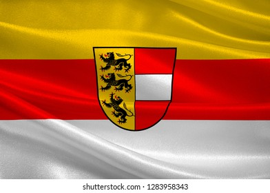 Flag of Carinthia is the southernmost Austrian state or Land. 3d illustration