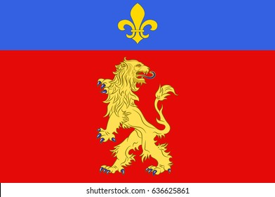 Flag of Charolles is a commune in the Saone-et-Loire department in the region of Bourgogne in eastern France