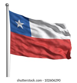 7f0903c9a1b Flag of Chile. Rendered with fabric texture (visible at 100%). Clipping