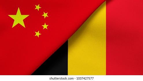 Flag of China and Belgium