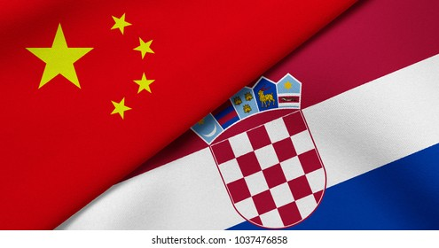 Flag of China and Croatia