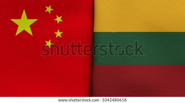 Flag of China and Lithuania