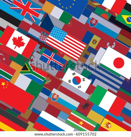 Royalty Free Stock Illustration Of Flag Collage Backdrop Pattern
