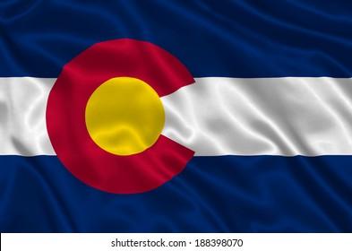 Flag of Colorado state (USA)