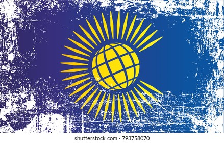 Flag of the Commonwealth of Nations. Wrinkled dirty spots. Can be used for design, stickers, souvenirs