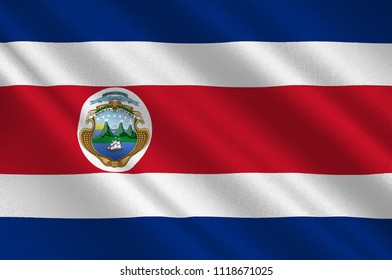 Flag of Costa Rica officially the Republic of Costa Rica is a country in Central America. 3d illustration
