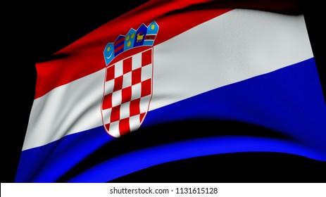 Flag of Croatia. 3D illustration