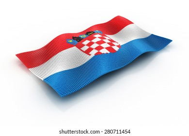 flag of Croatia consists of cubes