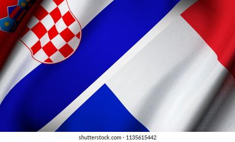 Flag of Croatia and France