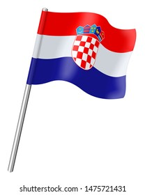 Flag of Croatia isolated on a white background