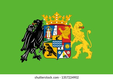 Flag of Csongrad is the name of an administrative county in southern Hungary. 3d illustration