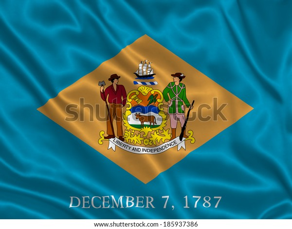 Flag of Delaware state (USA)