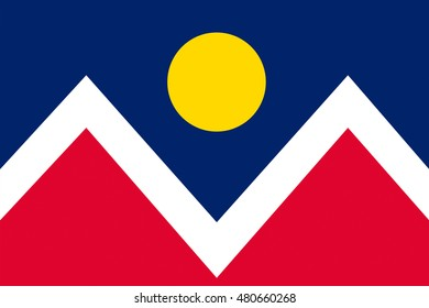 Flag Of Denver Is The Capital Of Colorado State, United States