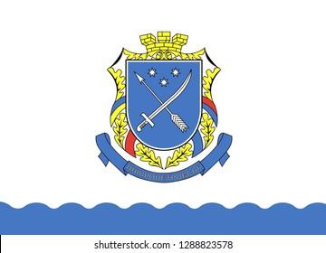 Flag of Dnepropetrovsk .Ukraine