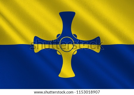 Flag Durham County North East England Stock Illustration 1153018907
