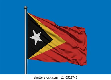 Royalty Free Stock Illustration of East Timor Flag Waving