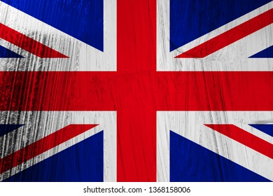Flag of England with scratched metal effect