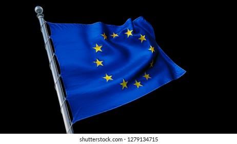 Flag EU 3d rendering