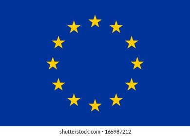 Flag of the European Union.  Accurate dimensions, element proportions and colors.