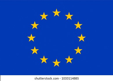 FLAG OF THE EUROPEAN UNION - PROPORTIONS: 1.5:  1 - Colours:  Reflex Blue, Yellow, texturised
