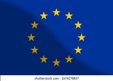 flag of eurpoe. illustration background