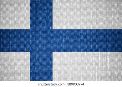 flag of Finland or Finnish banner on canvas background