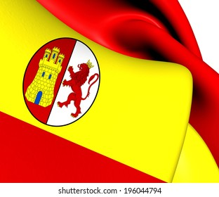 Flag of First Spanish Republic. Close Up.