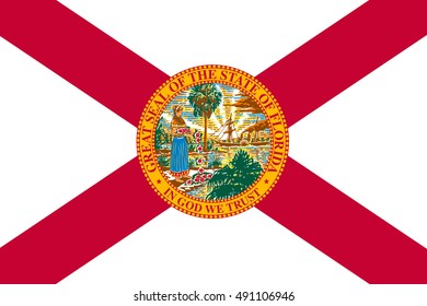 Flag of Florida is a state of United States