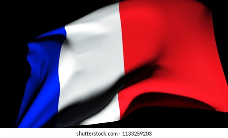 Flag of France 3d