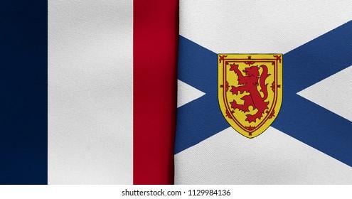 Flag of France and Nova Scotia