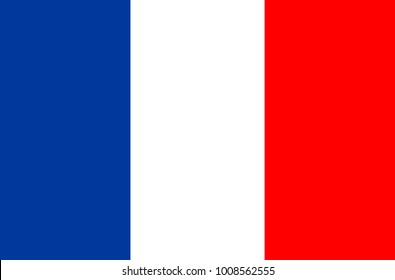 Flag of France. Symbol of Independence Day, souvenir soccer game, button language, icon.