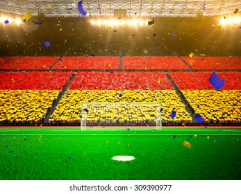 Fussball Deutschland Fans Stock Illustrations Images