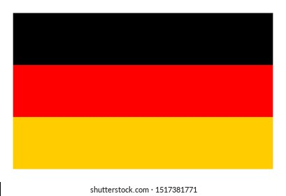 Flag of Germany. Germany flag, official colors and proportion correctly. Federal Republic of Germany flag.