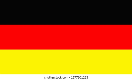 Flag Germany on white background