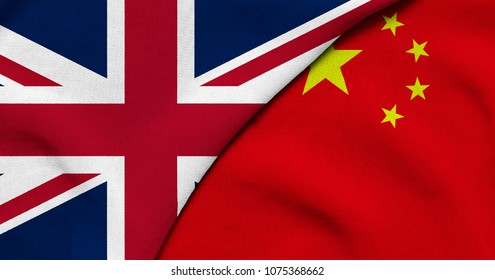 Flag of Great Britain and China