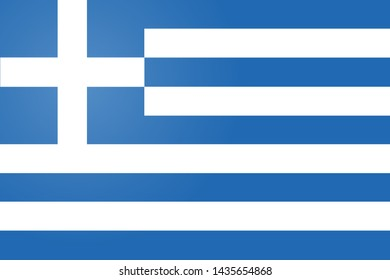 Flag of Greece.  illustration. The color and size of the original.