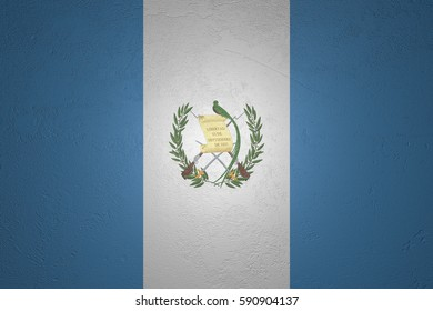 Flag of Guatemala on stone background, 3d illustration