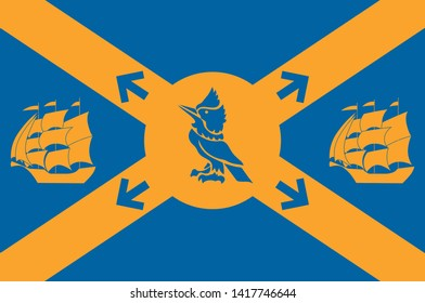 Flag of Halifax, formally known as the Halifax Regional Municipality (HRM), is the capital of the Canadian province of Nova Scotia. 3d illustration