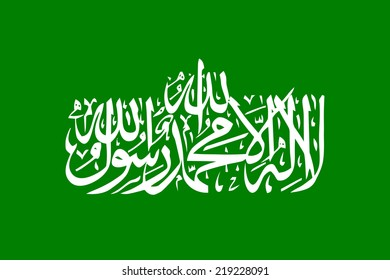 Flag of Hamas - Authentic version both in scale and color