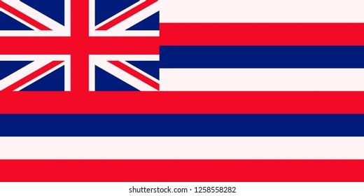 Flag of Hawaii U.S. state flag