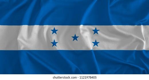 Flag of Honduras Background, 3D Illustration