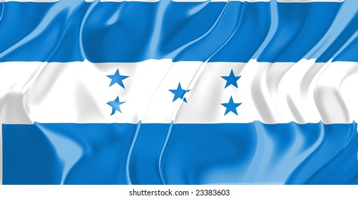 Flag of Honduras, national country symbol illustration