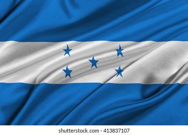 Flag of Honduras waving in the wind.