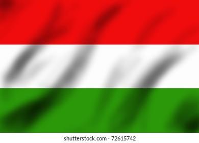 Flag of Hungary, 3d illustration