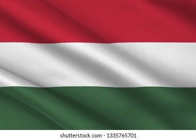 Flag of Hungary is a country in Central Europe. 3d illustration