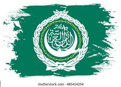 A Flag Illustration of the country of Arab League