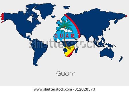 Flag Illustration Inside Shape World Map Stock Illustration ...